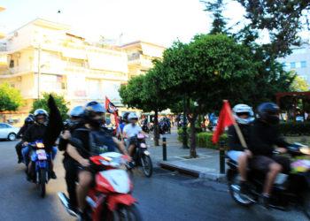 antifa moto demo