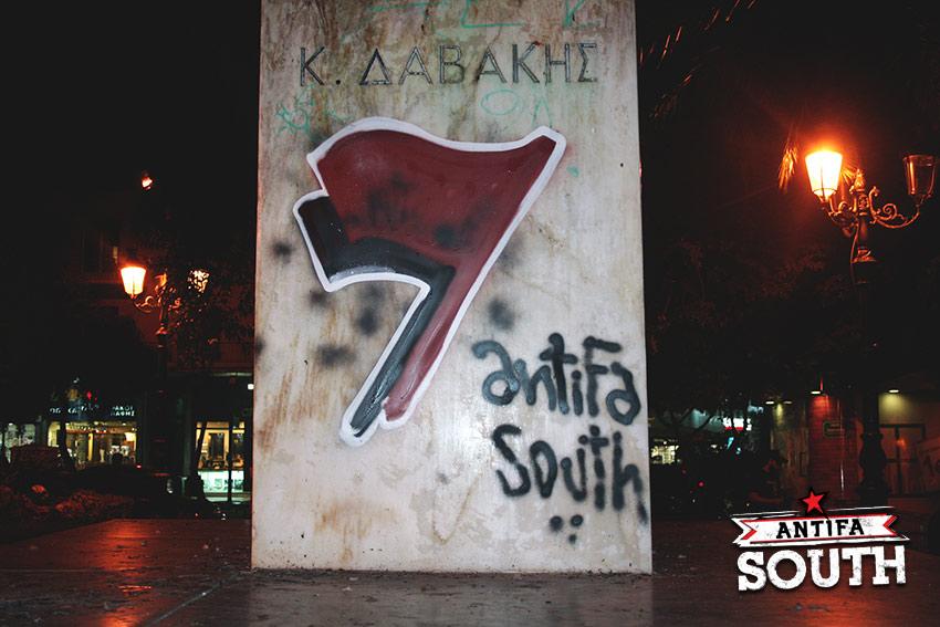 antifa south graffiti